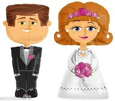 Coppia palloncini mylar ad elio sposo e sposa matrimonio sposi camminante foil