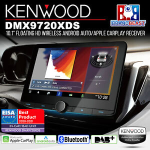 """Kenwood DMX9720XDS 10.1"""" Floating Wireless Android Auto/Apple CarPlay Receiver"""