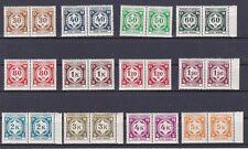 1941 Böhmen & Mähren Dienstmarken Ziffernzeichung Paare Postfrisch ** MNH LESEN