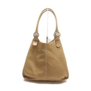 Prada Hand Bag  Beiges Leather 1420908