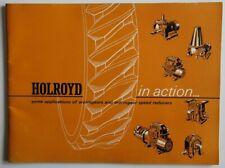 HOLROYD Wormgear speed Reducers 1965 dealer brochure - English