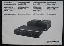Bedienungsanleitung KENWOOD - Stereo-Vorverstärker L-07C Leistungsendstufe L-07M