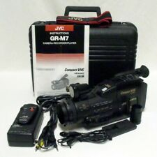 JVC GR-M7 Analog Compact VHS-C Video Camcorder w/Accessories Case Tested Working