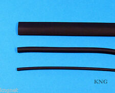 12.7, 6.4, 3.2mm Heat Shrink Tubing 3m Black Heatshrink Cable Sleeve Insulation