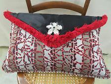 Lazar Fabrics Voltage Lipstick Envelope Pillow Brooch Feather Down 22 x 14