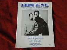 Simon and Garfunkel Scarborough Fair / Canticle RARE Sheet Music