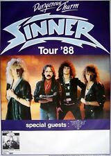 "Sinner TOUR POSTER/MANIFESTO CONCERTO ""Dangerous charm tour 1988"""
