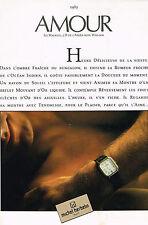 PUBLICITE ADVERTISING  1985   MICHEL  HERBELIN montres