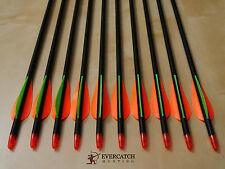 "50x 32"" Fiberglass Arrows 15-70lb Archery Compound & Recurve Bow Target &Hunting"