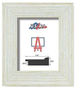 "US Art Frames 2.75"" Textured White Fence Barnwood Polystyrene Picture Frame S A"