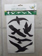 NEW: PACK of 5 SELF ADHESIVE WINDOW STICKERS BIRD SILHOUETTES - prevents injury