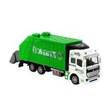 Die Cast Pull Back Sanitation Garbage Truck Model for Kids Toy Gift Green