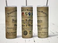 Personalized Hogwarts School Diploma 20oz Insulated Hot Or Cold Drink Tumbler