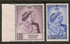 FALKLAND ISLANDS 1948 ROYAL SILVER WEDDING SG166/67 MNH
