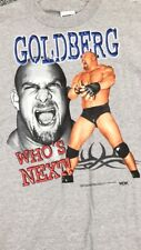 Rare Grey XL New Vintage Deadstock 1998 WCW Goldberg Tshirt Wrestling Tee Shirt
