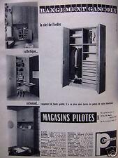 PUBLICITÉ 1959 RANGEMENT GASCOIN MAGASINS PILOTES LAPEYRE - ADVERTISING