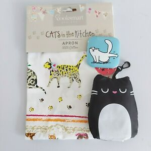 cat's in the kitchen apron foldable shopping bag simon's cat mirror gift bundle