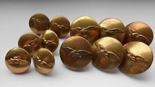 12 brass  civil airways uniform buttons    6 large 6 small