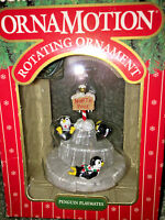 NOMA 1989 Ornamotion CHRISTMAS ORNAMENT Motion PENGUIN PLAYMATES Vintage NEW