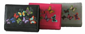 Mala Leather RFID Harper Leather Trifold Purse RRP £34.00  Various Colours