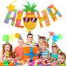 Hawaiian Tropical Pineapple Summer ALOHA Party Banner Garland Home Bunting New