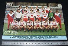 CLIPPING POSTER FOOTBALL 1985-1986 D2 FC MONTCEAU-LES-MINES BOURGOGNE