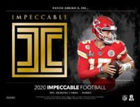 2020 Panini Impeccable NFL Football One Hobby Box Random Team Break #1