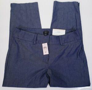 Women's Ann Taylor Crop Length Polished Dress Business Pants 4 Petite Curvy