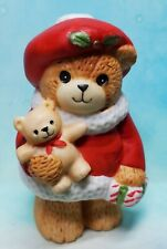 Enesco Lucy and Me Lucy Rigg Christmas girl bear with Teddy and package