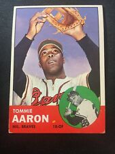 1963 Topps # 46 Tommie Aaron, Good Condition