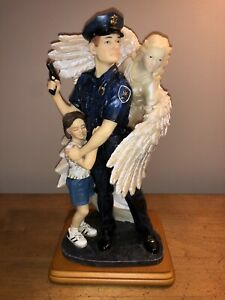"""Vanmark Blue Hats of Bravery (2000) """"The Shield Of An Angel"""" PE89118 RARE Police"""