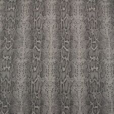 """CLARENCE HOUSE OD CANNES ZINC GRAY SNAKESKIN LOOK OUTDOOR INDOOR FABRIC BTY 54""""W"""