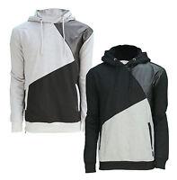 Soul Star Contrast Overhead Hoodie Men's Fleece Sweatshirt Hooded Top Black Grey