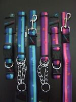 HEM AND BOO DOG & CO NYLON CLIP DOG COLLAR or PADDED HANDLE LEAD-NutsAbout Mutts