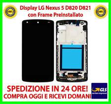 DISPLAY LCD + TOUCH + FRAME PER LG NEXUS 5 NERO D820 D821 NEXUS5