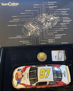 """Team Caliber 2004 Kurt Busch #97 Car 8"""" SUPERMAN Justice League Sharpie 1:24 New"""