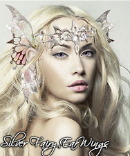 Xotic Eyes Silver Fairy Ear Wings & Tiara Fairy Costume Glitter Crystal Tattoo