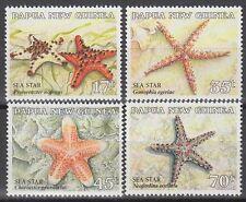 Papua-Neuguinea 1987 ** Mi.553/56 Seesterne Sea Stars Marine Life [sq6009]