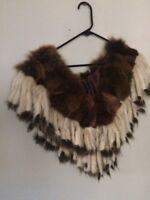 Rare Exquisite Vintage Bell Epoch Couture Emine Supple  Fur Wrap 1920s,30s