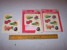1981 Meyercord Decals Vegetables Carrot Onion Tomato Pea Corn Beet Eggplant