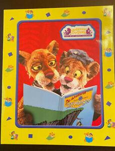 Vintage PBS Between the Lions Portfolio Folders Theo Cleo Lionel & Leona - RARE!