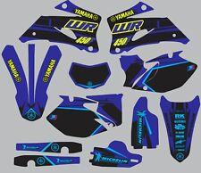 Blue Highlighter YAMAHA GRAPHICS  WR 450F WR450F 2007 2008 2009 2010 2011 decals