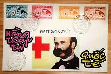 FDC VIET NAM   - INDOCHINE  stamp- HONG THAP TU QUOC TE  -  1963 -  Hand made-