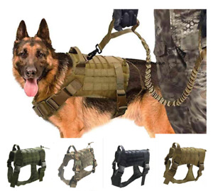 Tactical Dog Puppy Harness  Military K9  Chest No Pull Vest Handle  S M L XL