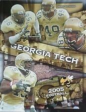 2005 GEORGIA TECH YELLOW JACKETS FOOTBALL MEDIA GUIDE (CALVIN JOHNSON CV +