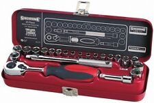 SIDCHROME Tools 23pc Metric & imperial Socket Set Tool Kit-Lifetime Aus Wrnty sp