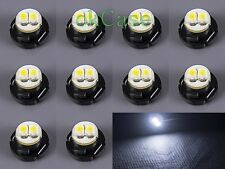 10 x T5 White Neo Wedge SMD LED Bulbs Instrument Cluster Panel Lamps Climate 12V