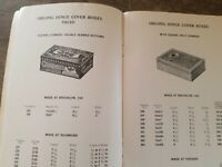 Vtg 1910s Typewriter Hinged Tobacco  Small Tin Catalog American Can Co Drug old