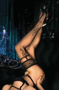 Ballerina 446 Hold Ups Thigh-Highs Black European Hosiery Luxury