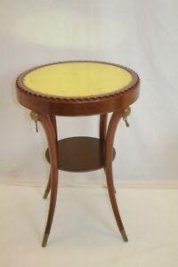 Regency Mahogany Top End Side Table  & Bronzed Tassel Mount c. 1920's